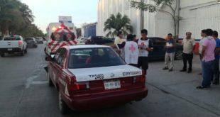 Pasajero de Taxi resultó lesionado 5